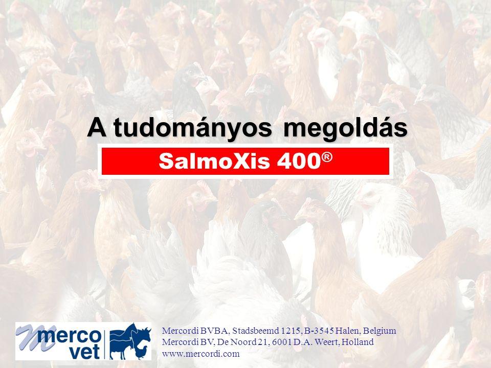 A tudományos megoldás SalmoXis 400 ® Mercordi BVBA, Stadsbeemd 1215, B-3545 Halen, Belgium Mercordi BV, De Noord 21, 6001 D.A.