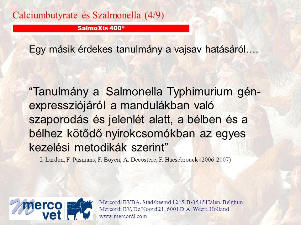 """Egy másik érdekes tanulmány a vajsav hatásáról…. """"Tanulmány a Salmonella Typhimurium gén- expressziójáról a mandulákban való szaporodás és jelenlét al"""