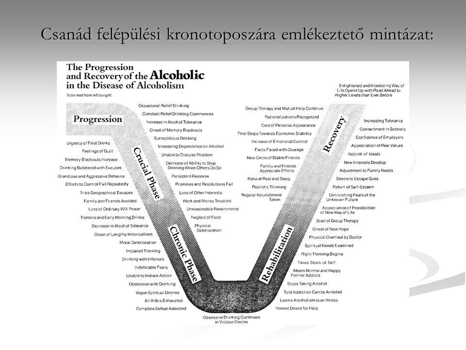 Csanád felépülési kronotoposzára emlékeztető mintázat: