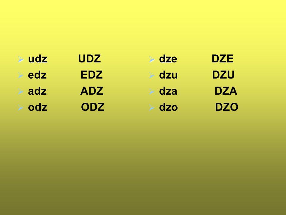 dz DZ e-dzés e-dző hú-zódz-ko-dó