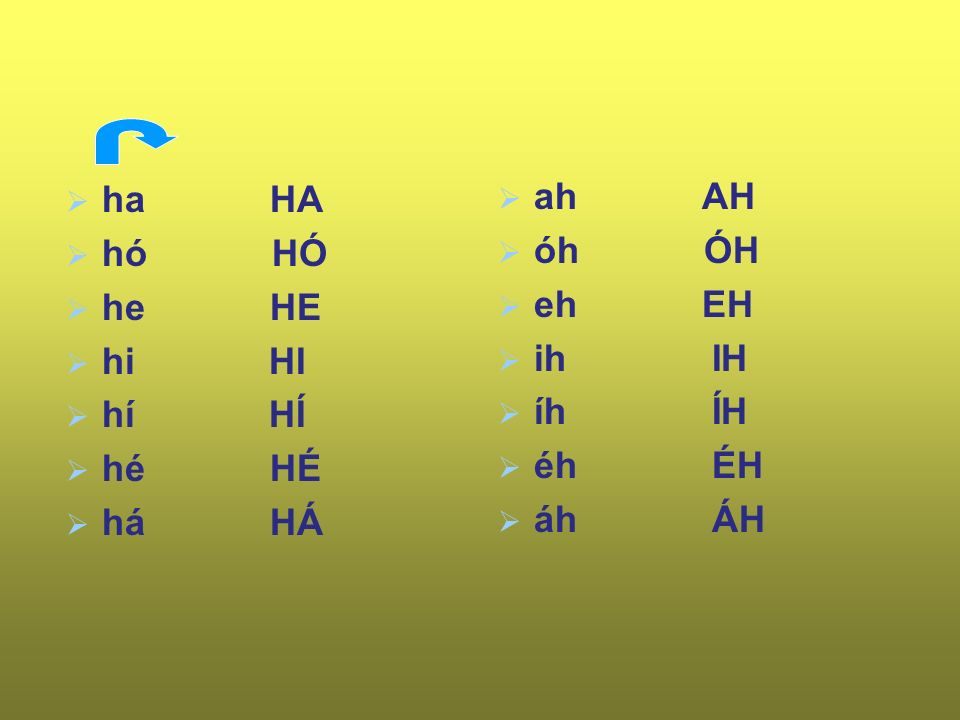 h H  hód han-gya te-hén