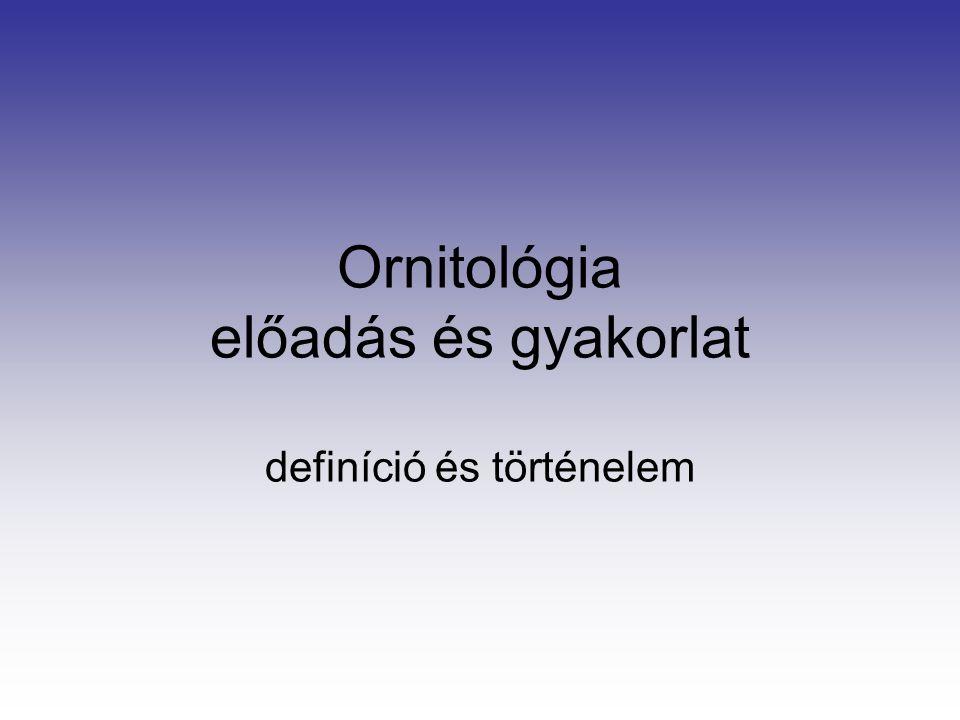 Ornitológia előadás és gyakorlat definíció és történelem