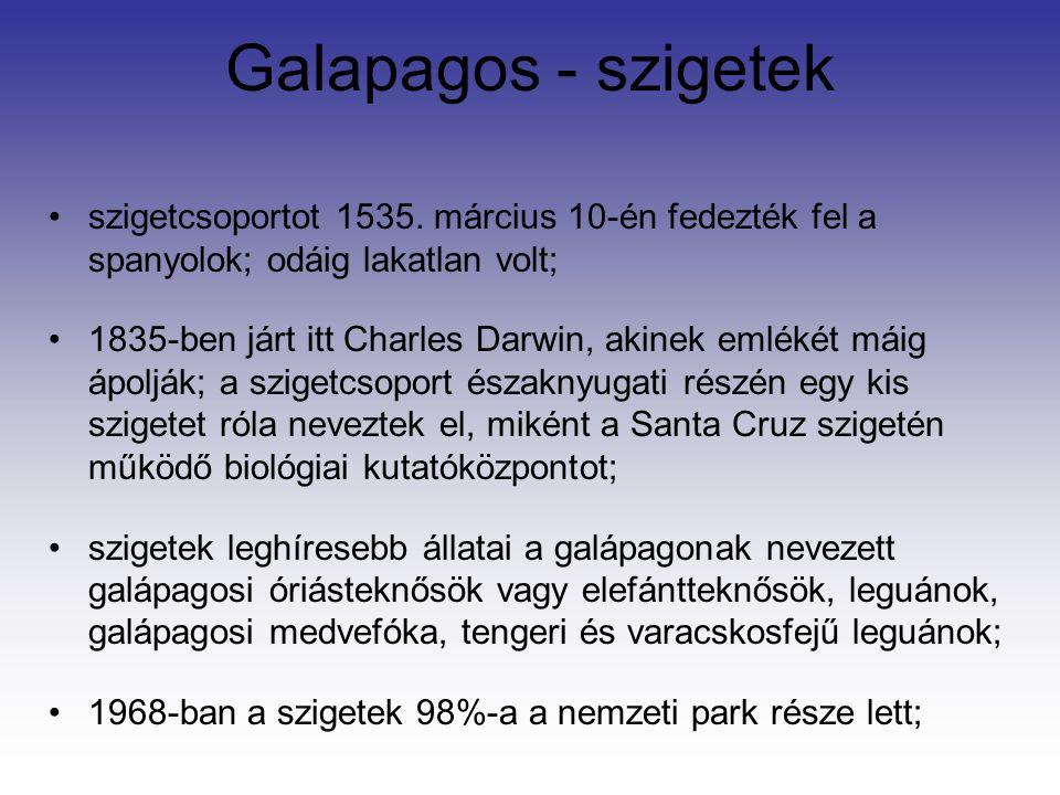 Galapagos - szigetek szigetcsoportot 1535.