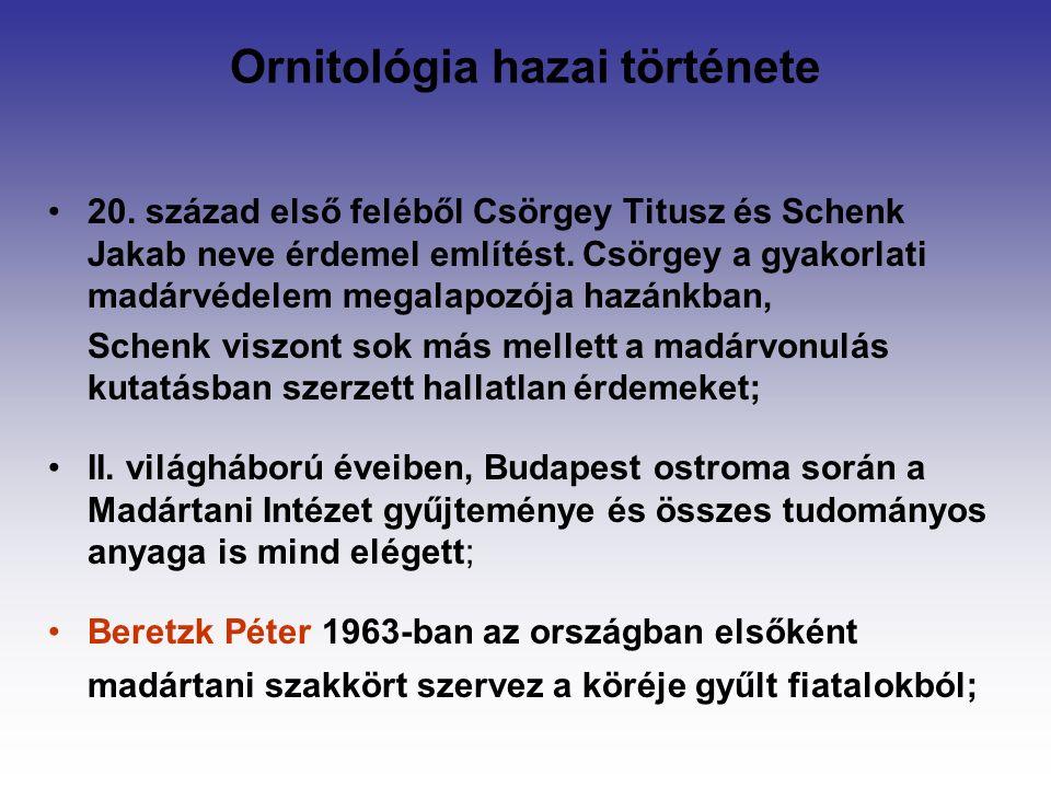 Ornitológia hazai története 20.