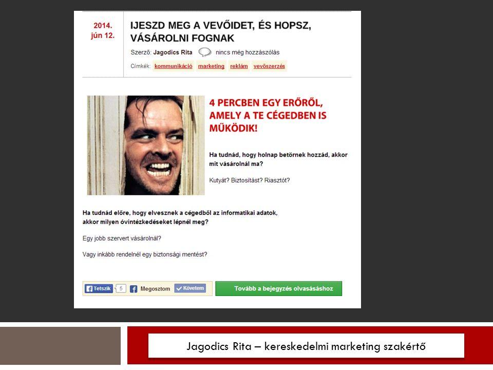 Jagodics Rita – kereskedelmi marketing szakértő