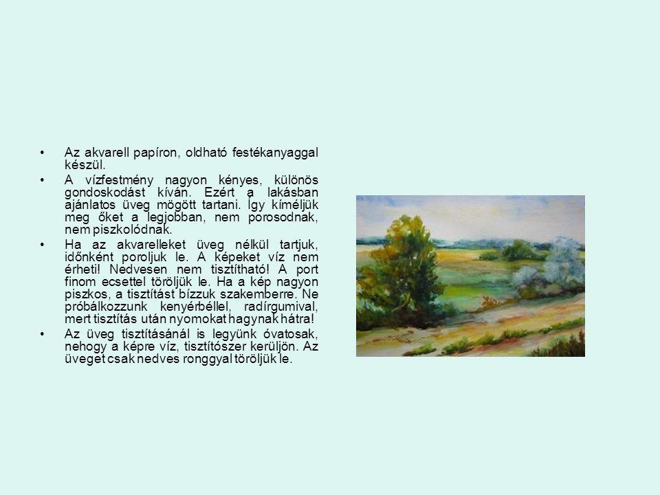 Az akvarell papíron, oldható festékanyaggal készül.