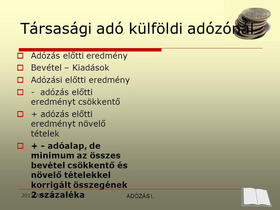 2013/2014.II.ADÓZÁS I.  Példa:bt átalakul kft-vé  Bekerülési é.