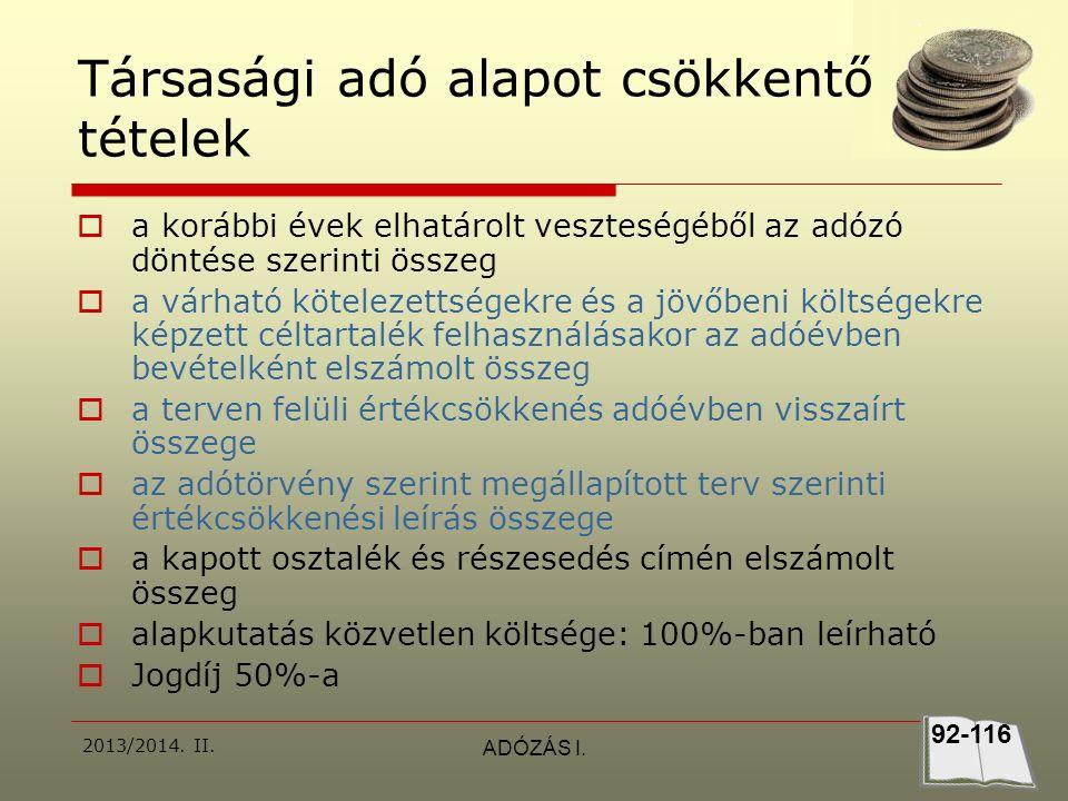 2013/2014.II.ADÓZÁS I.  30.