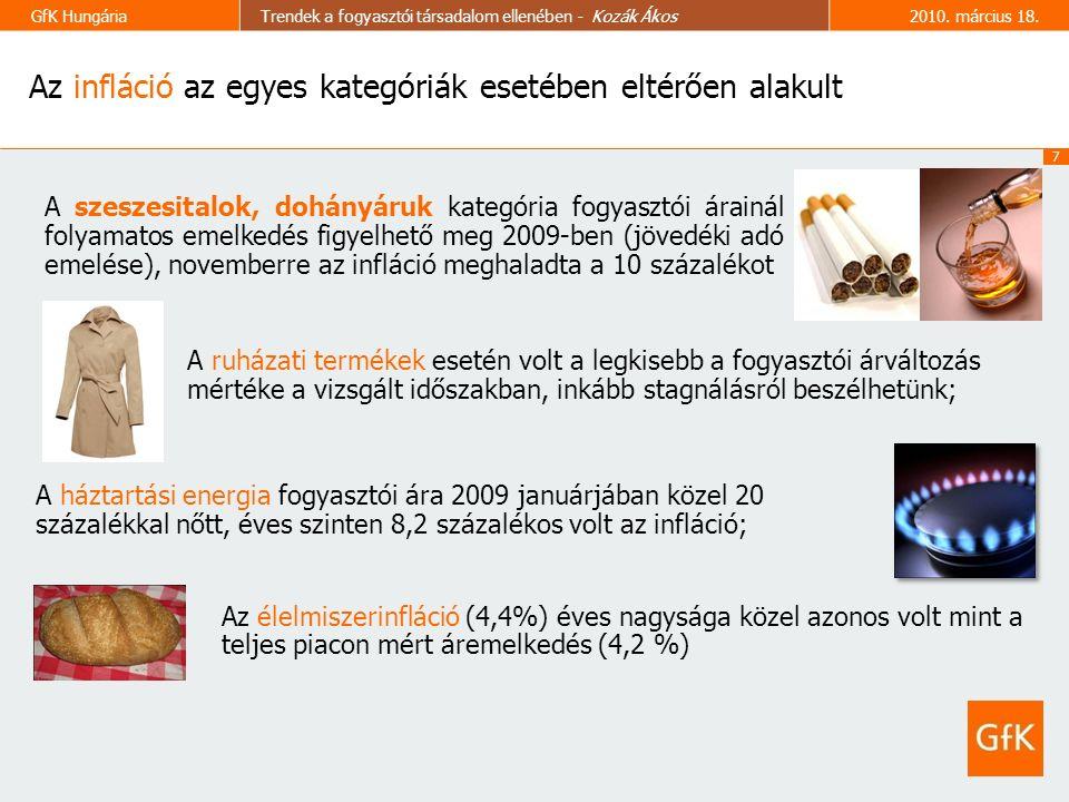 7 GfK HungáriaTrendek a fogyasztói társadalom ellenében - Kozák Ákos2010.