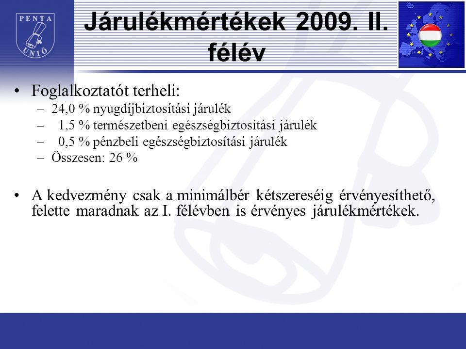 Járulékmértékek 2009. II.