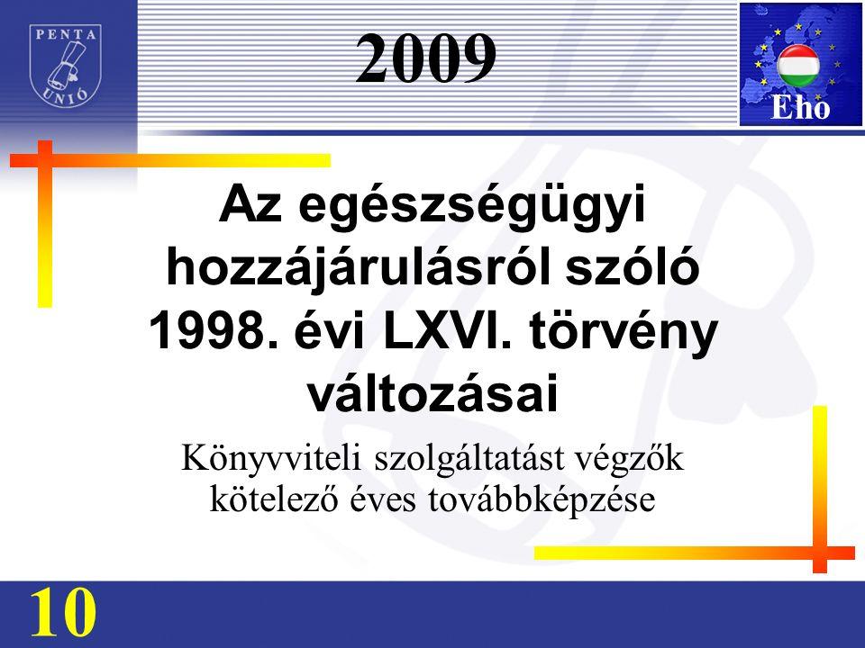 Az egészségügyi hozzájárulásról szóló 1998. évi LXVI.