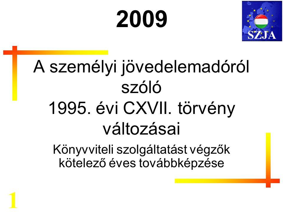 A személyi jövedelemadóról szóló 1995. évi CXVII.