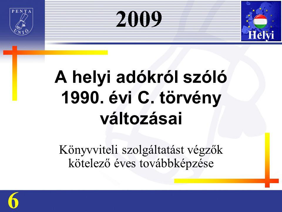 A helyi adókról szóló 1990. évi C.