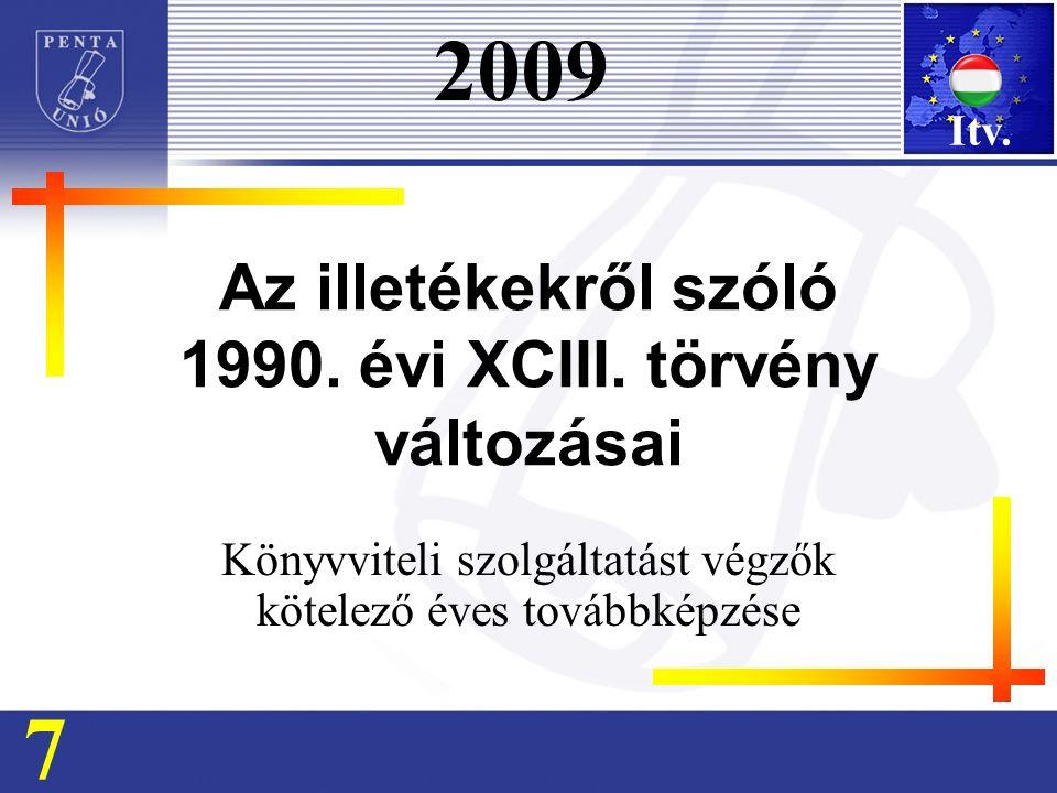 Az illetékekről szóló 1990. évi XCIII.