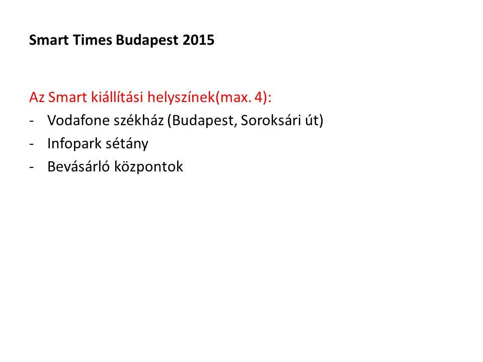 Smart Times Budapest 2015 Az Smart kiállítási helyszínek(max.