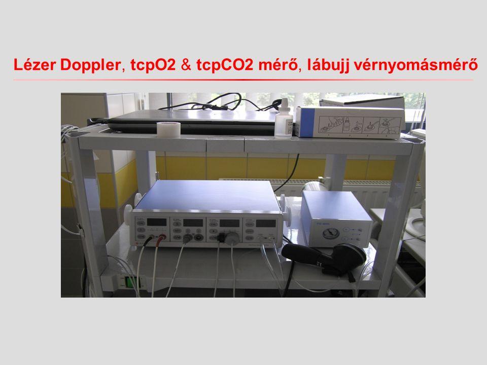 Lézer Doppler, tcpO2 & tcpCO2 mérő, lábujj vérnyomásmérő