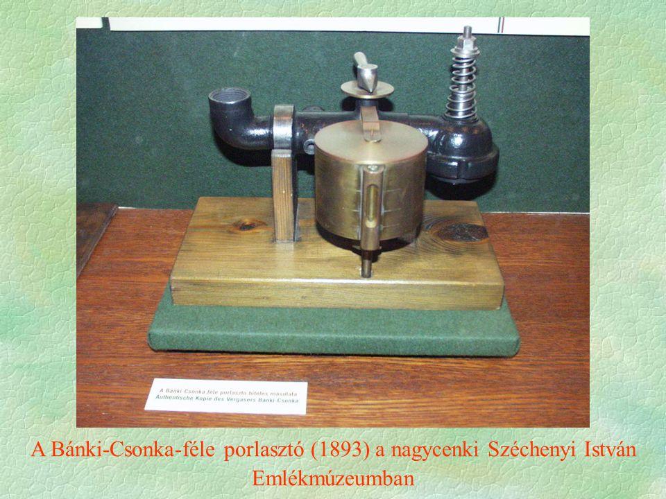 A Bánki-Csonka-féle porlasztó (1893) a nagycenki Széchenyi István Emlékmúzeumban