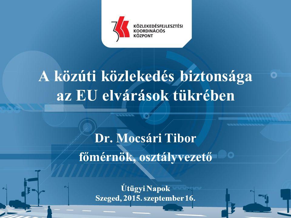A közúti közlekedés biztonsága az EU elvárások tükrében Dr.