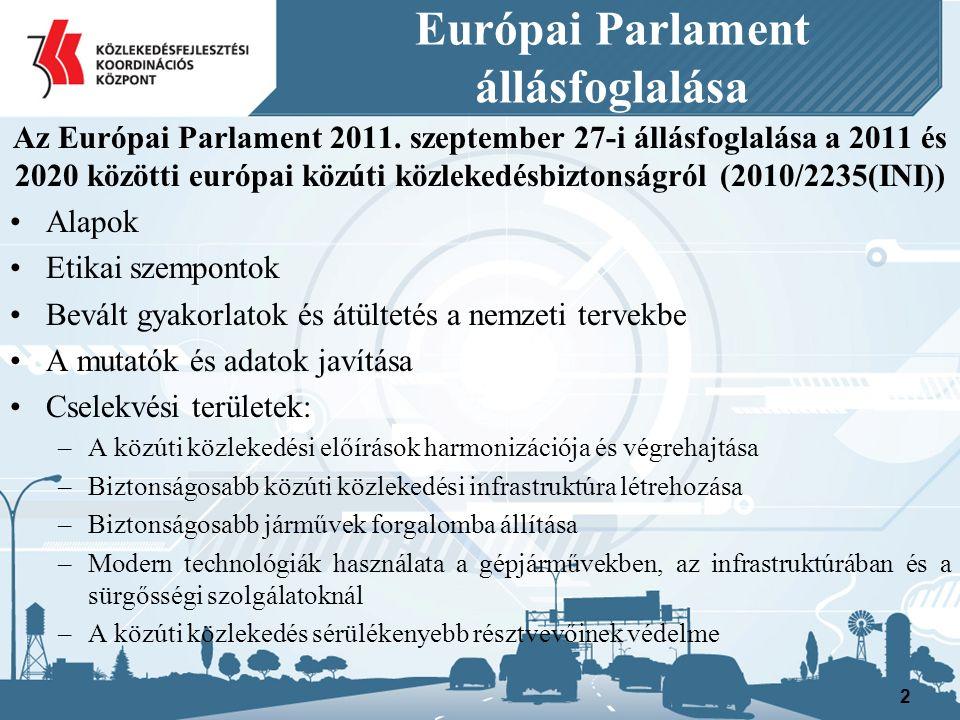 Európai Parlament állásfoglalása Cselekvési területek: biztonságosabb közúti közlekedési infrastruktúra létrehozása V.