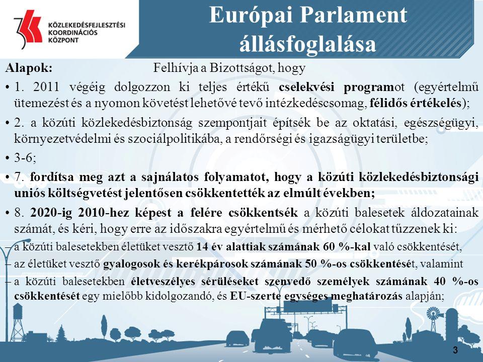 Európai Parlament állásfoglalása Alapok: Felhívja a Bizottságot, hogy 1.