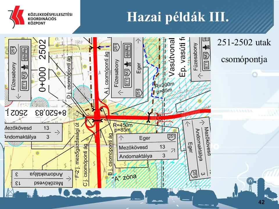 251-2502 utak csomópontja 42 Hazai példák III.