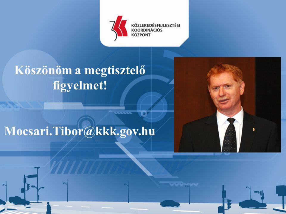 Köszönöm a megtisztelő figyelmet! Mocsari.Tibor@kkk.gov.hu