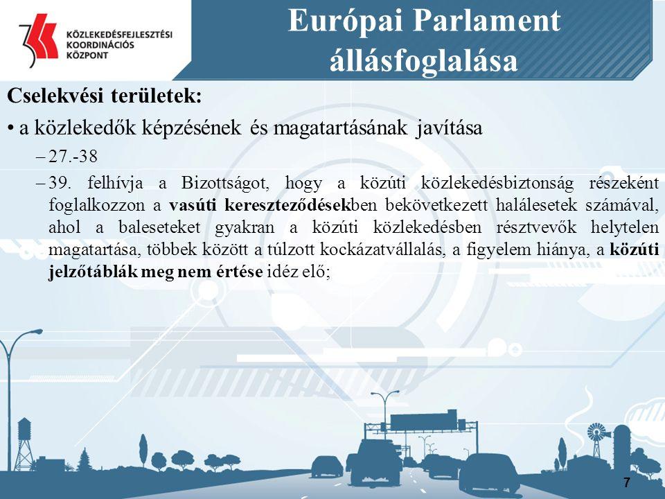 Európai Parlament állásfoglalása Cselekvési területek: Modern technológiák használata a gépjárművekben, az infrastruktúrában és a sürgősségi szolgálatoknál II.