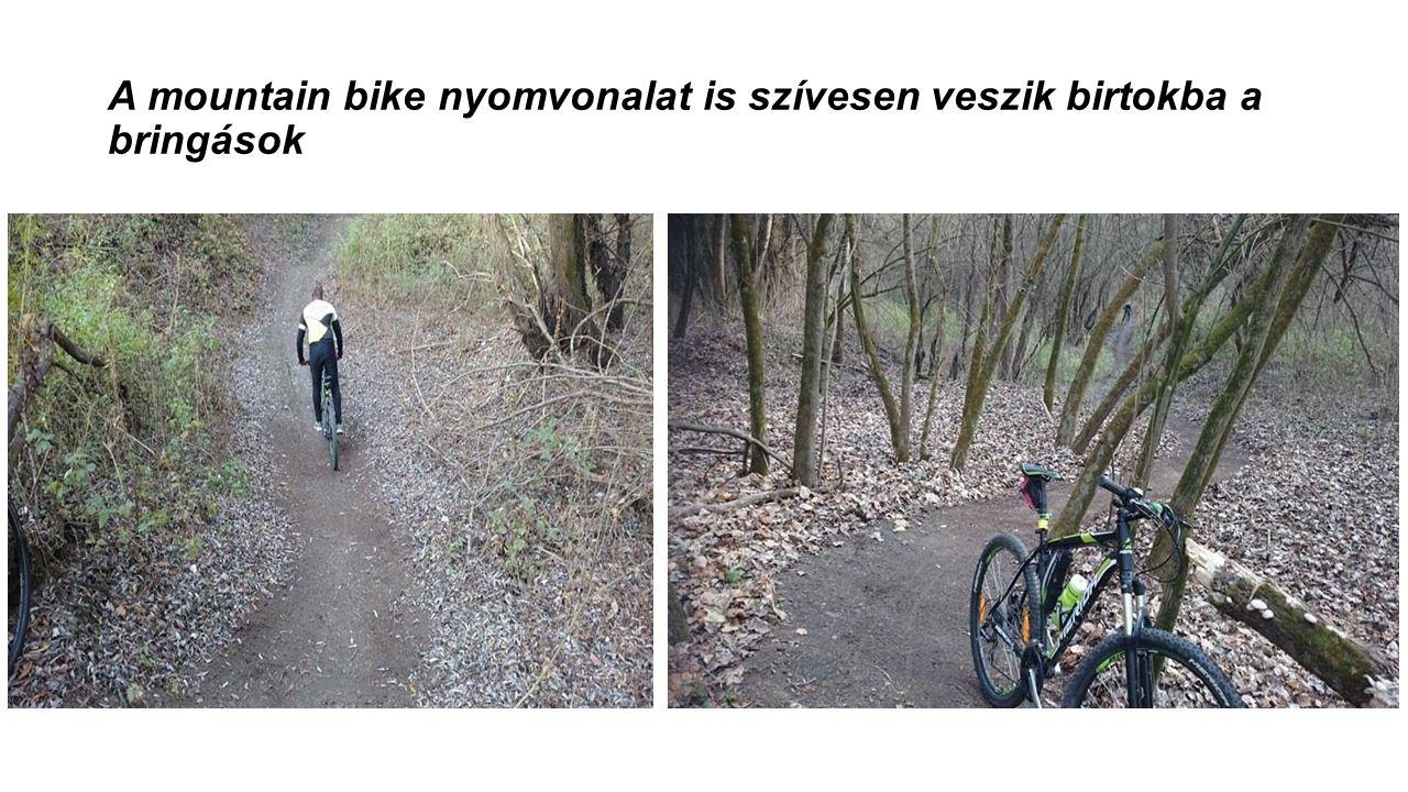 A mountain bike nyomvonalat is szívesen veszik birtokba a bringások