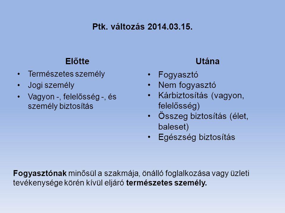 Ptk. változás 2014.03.15.