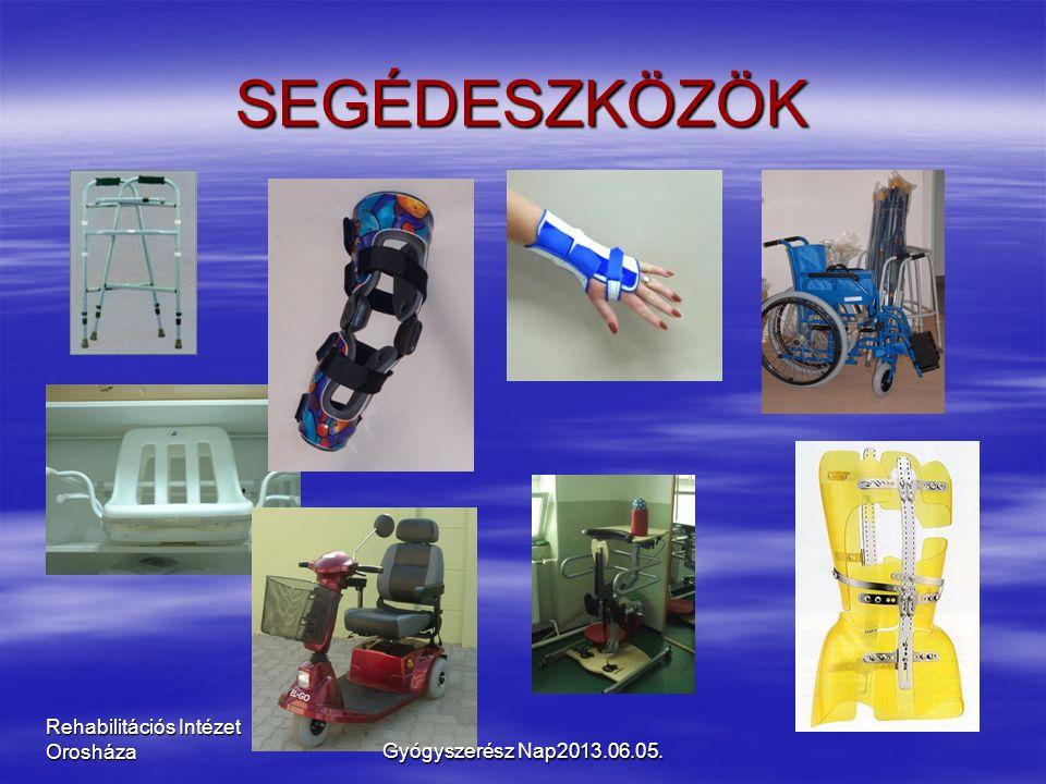 Rehabilitációs Intézet Orosháza SEGÉDESZKÖZÖK Gyógyszerész Nap2013.06.05.