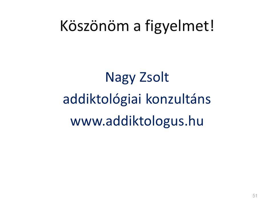 Köszönöm a figyelmet! Nagy Zsolt addiktológiai konzultáns www.addiktologus.hu 51