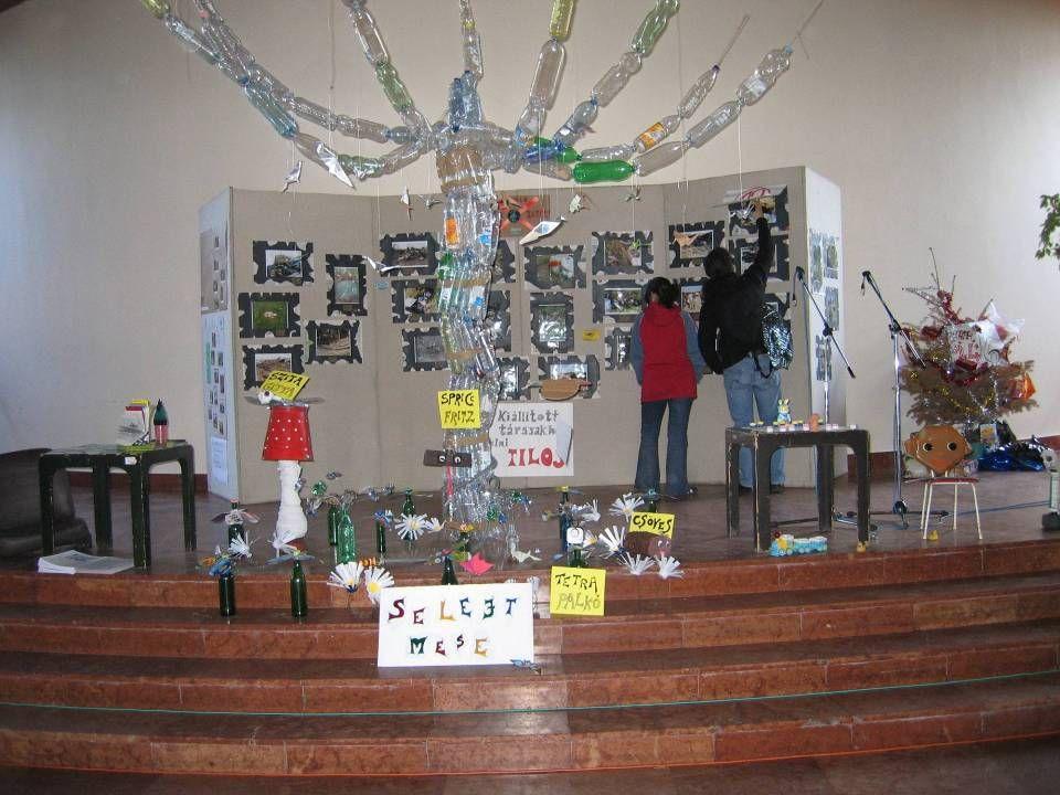 Kreatív, interaktív kiállítások Művelődési Ház központi aulája (vagy pl. vasútállomások) – mindenki, aki benéz! Erdők Hete 2005 Szélfútta, Természetfa