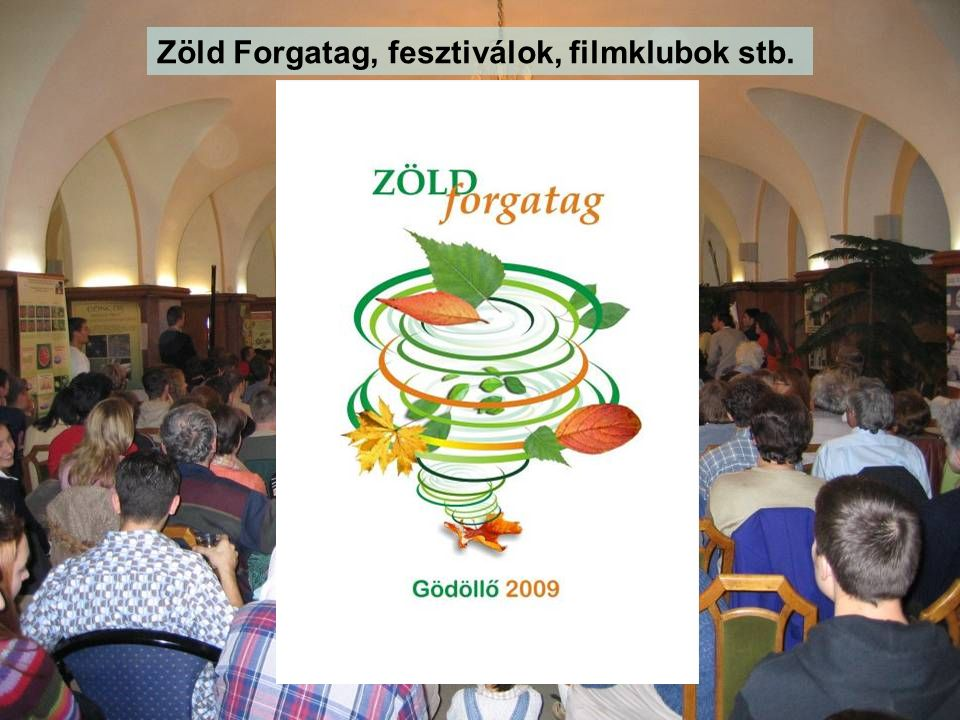 Zöld Forgatag, fesztiválok, filmklubok stb.