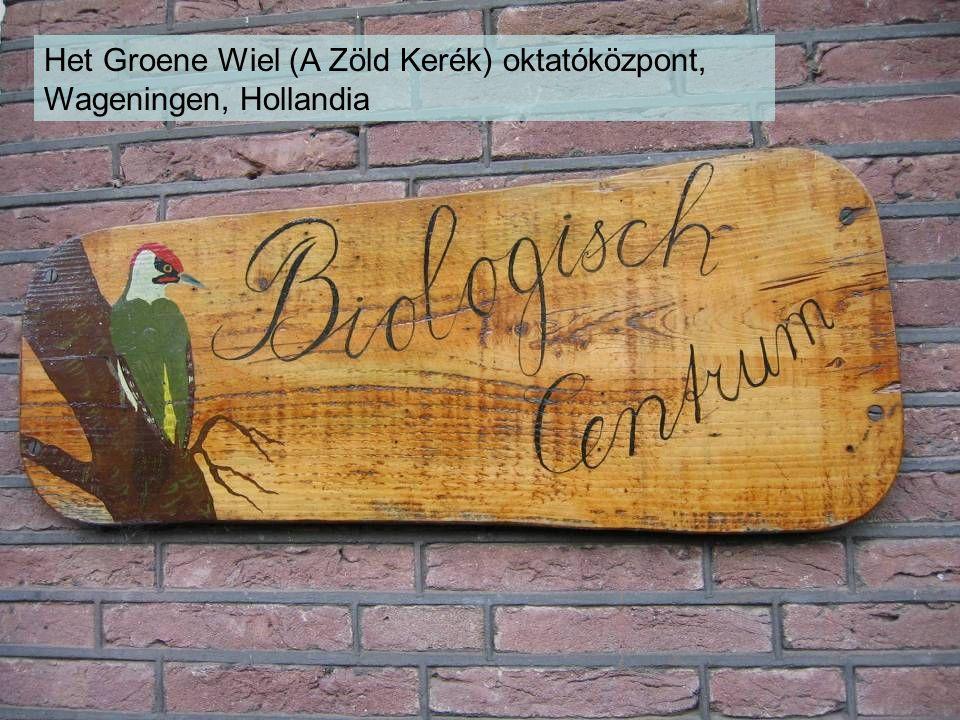Het Groene Wiel (A Zöld Kerék) oktatóközpont, Wageningen, Hollandia