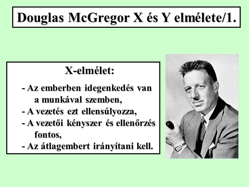Douglas McGregor X és Y elmélete/1.