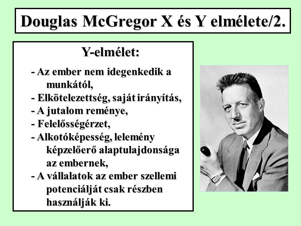 Douglas McGregor X és Y elmélete/2.