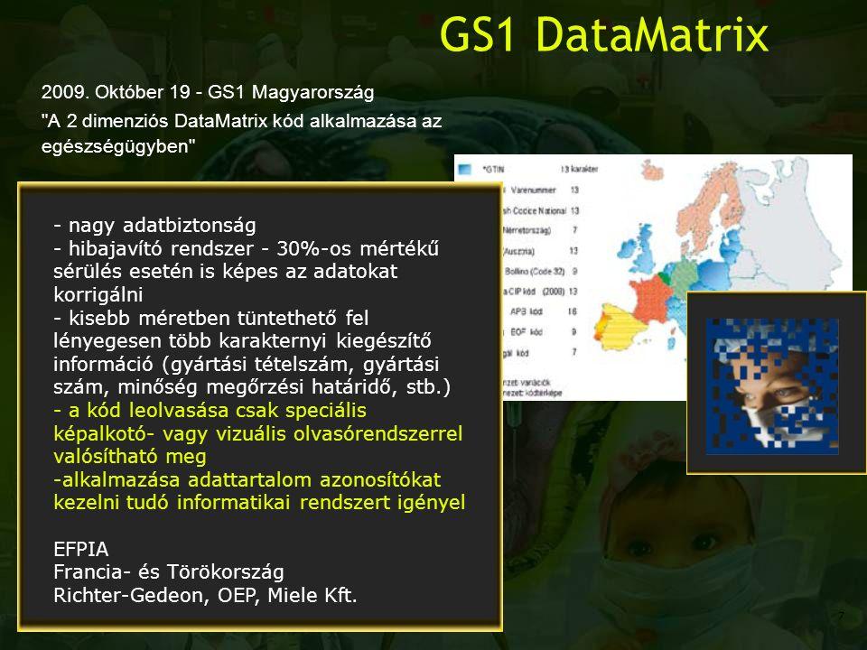 GS1 DataMatrix 2009. Október 19 - GS1 Magyarország