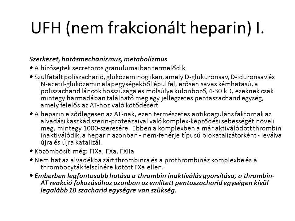 UFH (nem frakcionált heparin) I.