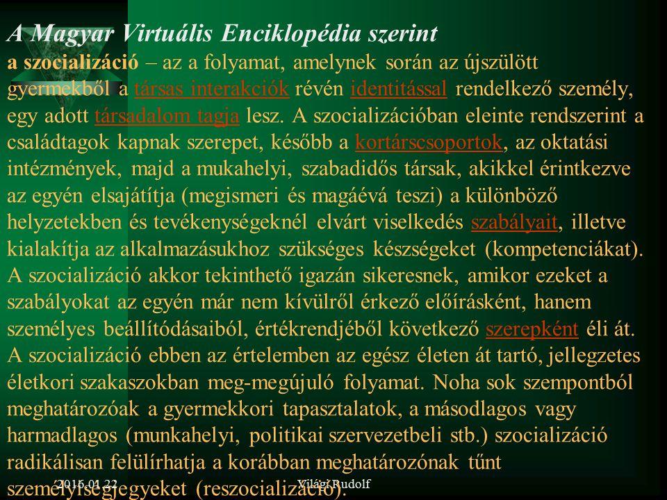 Világi Rudolf Az új munkatárs beillesztését támogató szocializációs folyamat lényege, eszközei 2016.01.22