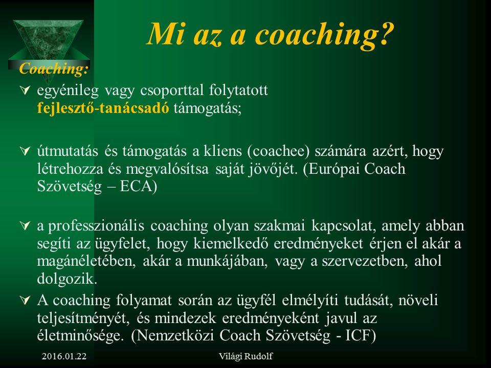 2016.01.22Világi Rudolf A coaching, mint új módszer az emberi erőforrás fejlesztésében és a vezetőképzésben