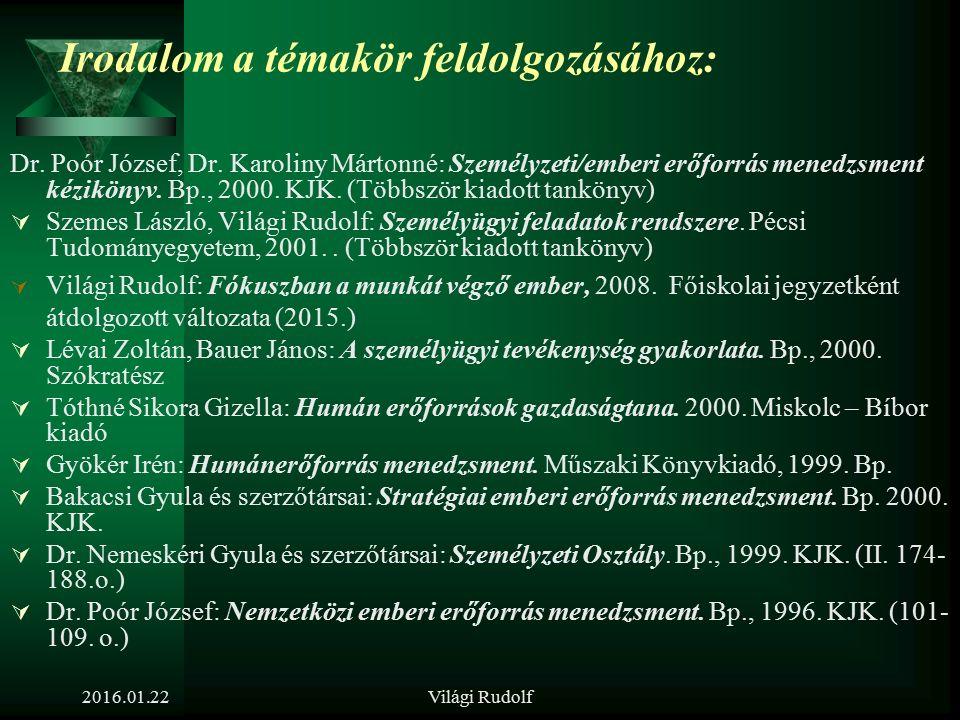 Világi Rudolf A munkakör nyilvános meghirdetése (álláshirdetés és pályázat)  kritériumok,  korlátok,  diszkriminációk  időpont, gyakoriság  méret