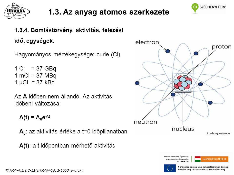 TÁMOP-4.1.1.C-12/1/KONV-2012-0005 projekt 12 1.3. Az anyag atomos szerkezete 1.3.4.