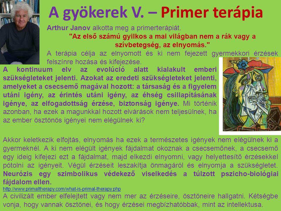 A gyökerek V. – Primer terápia Arthur Janov alkotta meg a primerterápiát.