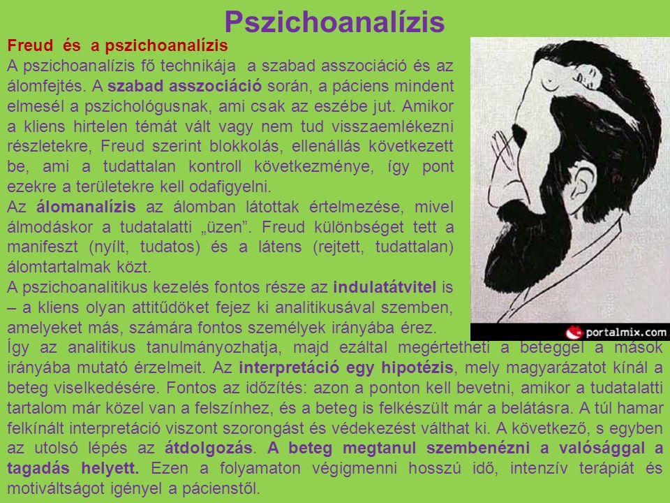 Pszichoanalízis Freud és a pszichoanalízis A pszichoanalízis fő technikája a szabad asszociáció és az álomfejtés. A szabad asszociáció során, a pácien