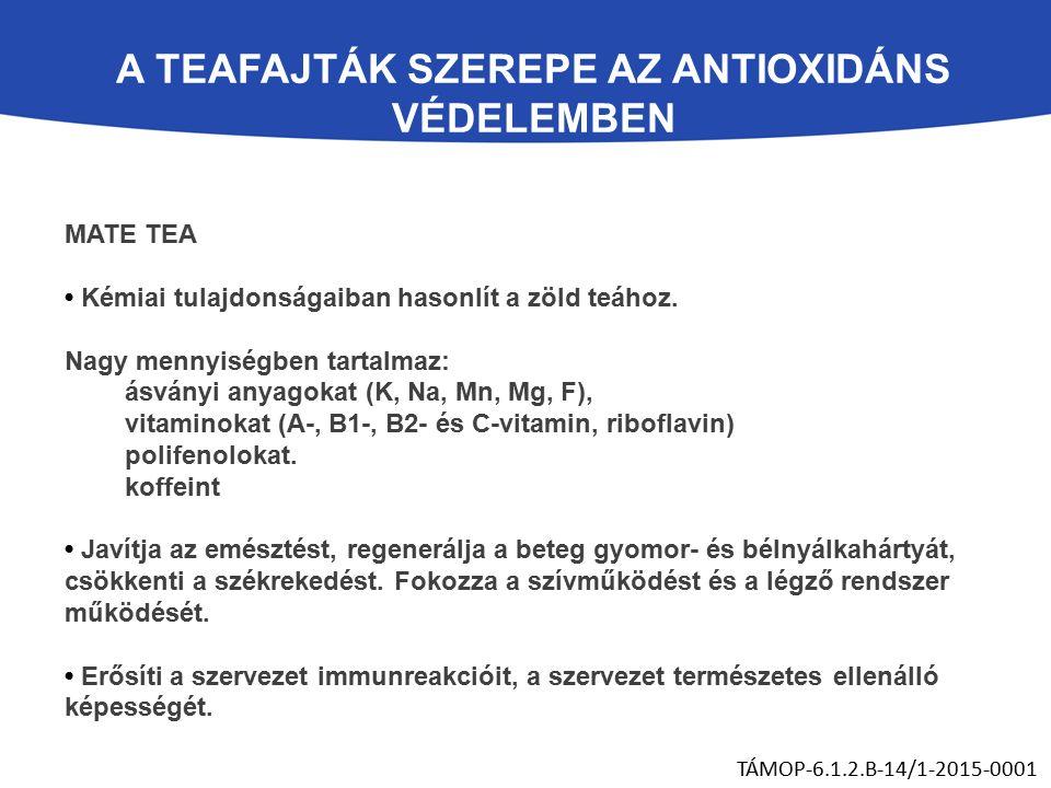 MATE TEA Kémiai tulajdonságaiban hasonlít a zöld teához.