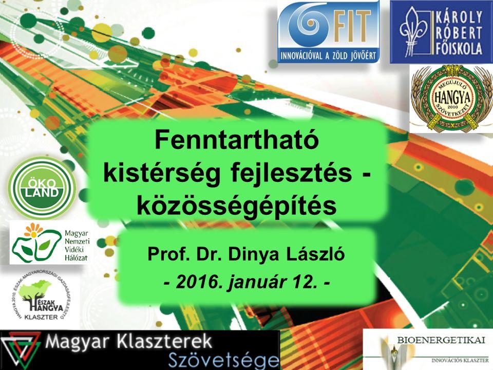 Fenntartható kistérség fejlesztés - közösségépítés Prof. Dr. Dinya László - 2016. január 12. -