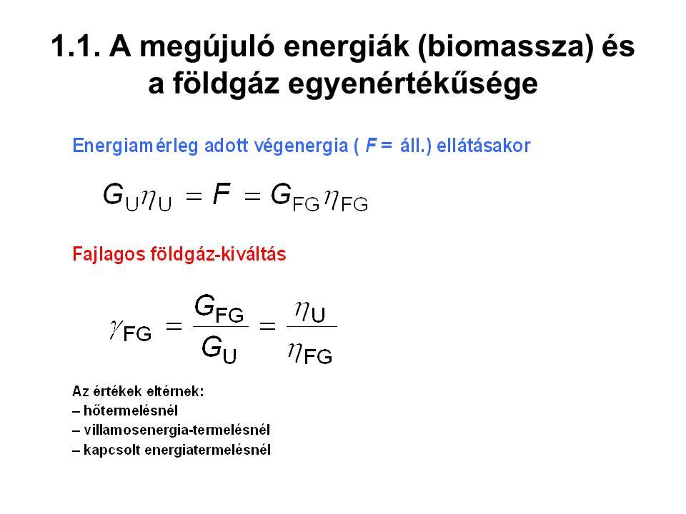 3.1. Biomassza-termelés, bruttó és nettó primerenergia-hozamok