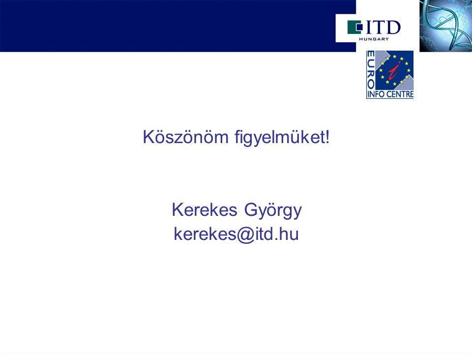 Köszönöm figyelmüket! Kerekes György kerekes@itd.hu