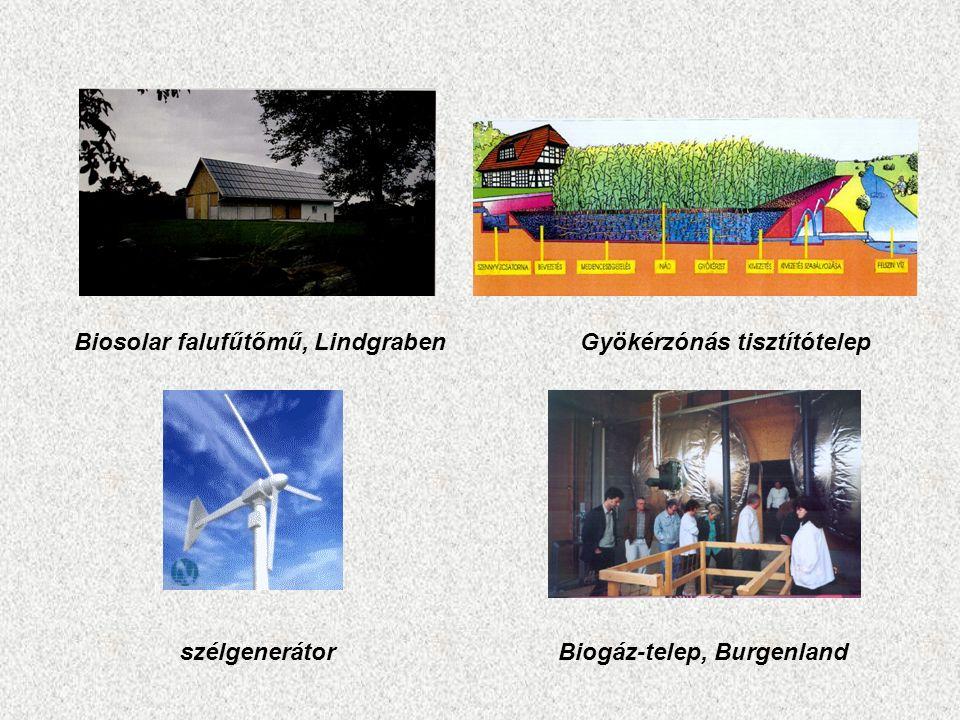 Biosolar falufűtőmű, LindgrabenGyökérzónás tisztítótelep szélgenerátorBiogáz-telep, Burgenland