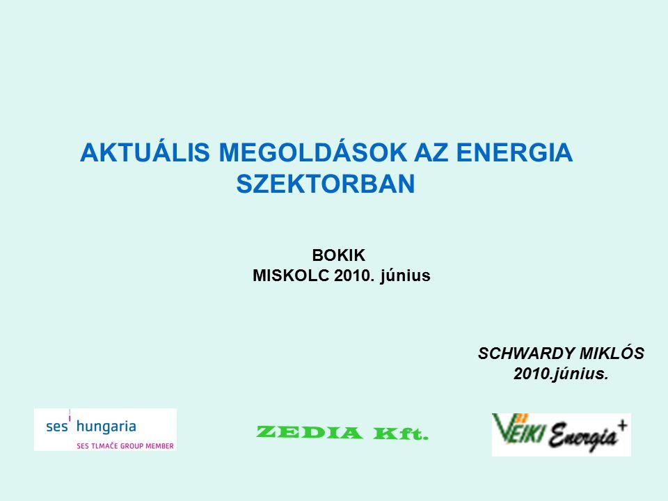 SCHWARDY MIKLÓS 2010.június. AKTUÁLIS MEGOLDÁSOK AZ ENERGIA SZEKTORBAN ZEDIA Kft.